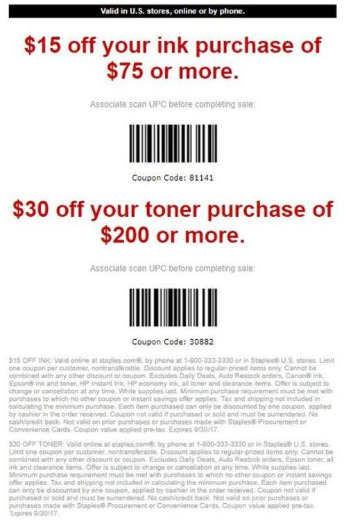 Save $15 Off Ink Purchase
