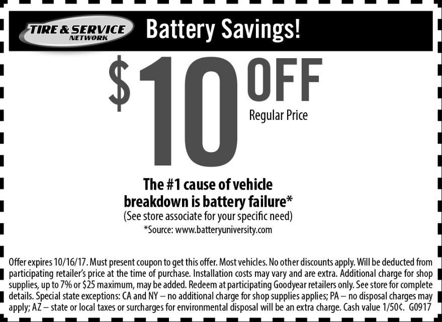 Take $10 Off Battery