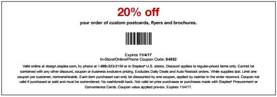 Save 20% Off Custom Cards And Bronchures