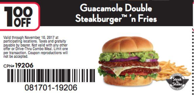 Enjoy $1 Off Double Steakburger And Fries