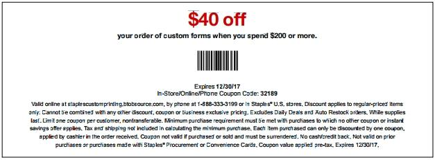 Enjoy $40 Off Customized Forms