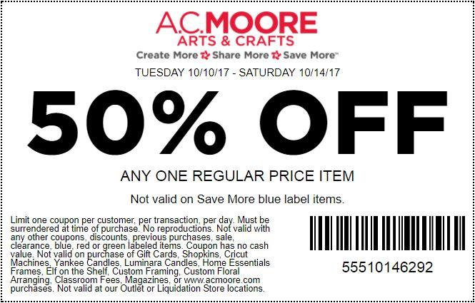 0 ac moore coupons promo codes april 2018 for Coupons michaels arts and crafts