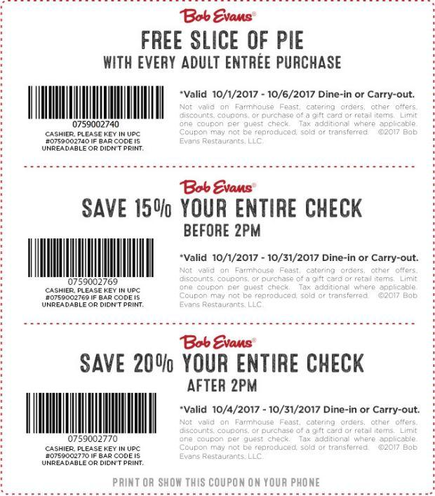 photograph about Mastercut Coupons Printable titled Bob evans cafe coupon codes - Latest Discount codes
