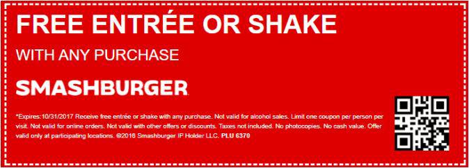 Receive Free Entree On Your Purchase