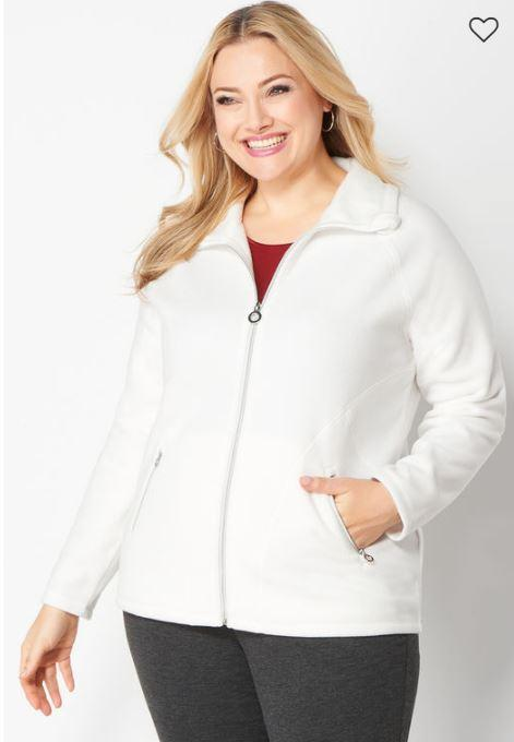 56% Off Solid Fleece Jacket