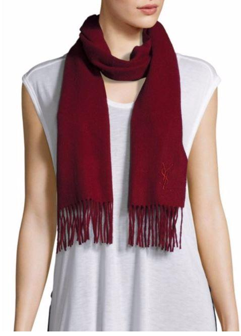 76% Off Yves Saint Laurent Wool & Cashmere Fringe Scarf