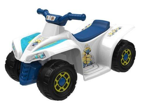 50% Off Minions 6-Volt Little Quad Electric Battery-Powered Ride-On