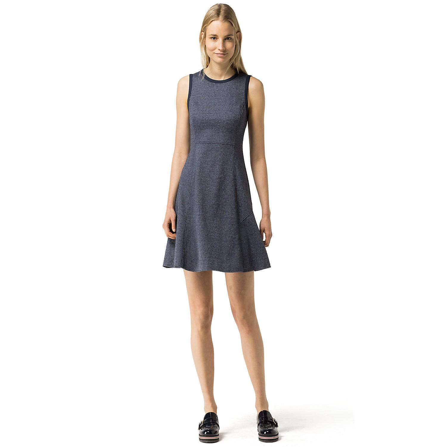 35% Off Fit and Flare Textured Dress