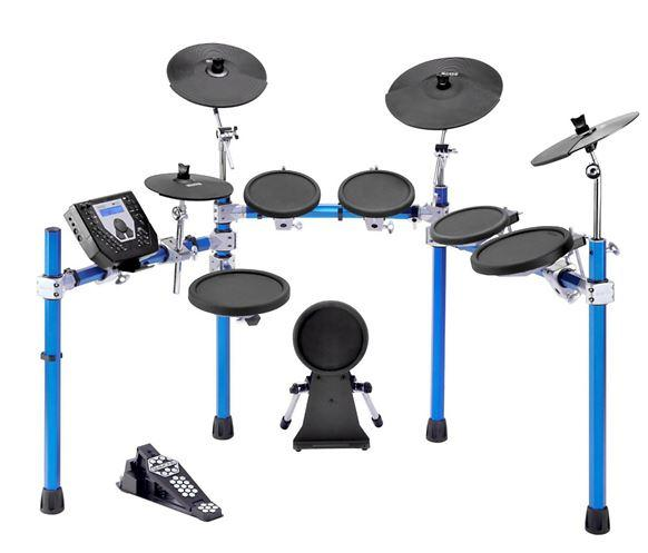 40% Off Simmons SD1500 Electronic Drum Set with Blue Metallic Rack