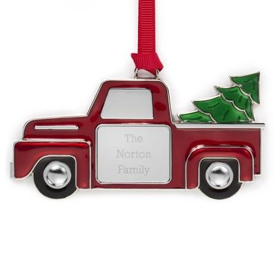 20% Off Red Enamel Truck Ornament