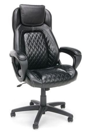 73% Off Essentials by OFM ESS-6060 High-Back Racing Style Leather Executive Office Chair Black
