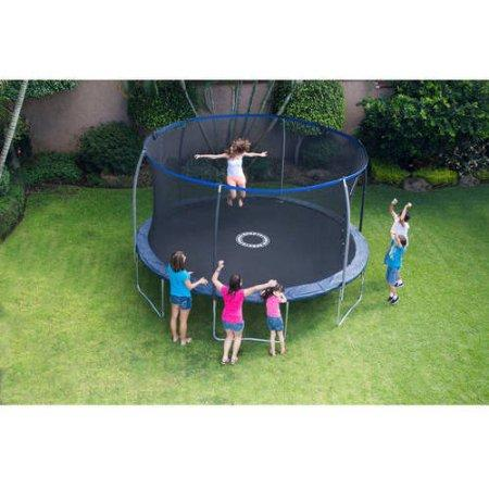 31% Off BouncePro 14' Trampoline with Proflex Enclosure and Electron Shooter Game, Dark Blue