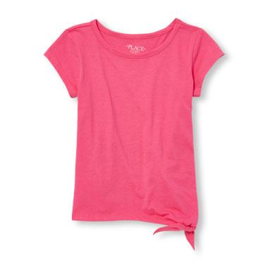 Girls Matchables Short Sleeve Side-Tie Top