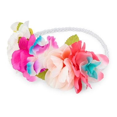 Girls Tropical Flower Headwrap