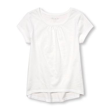 Girls Matchables Short Sleeve Hi-Low Top