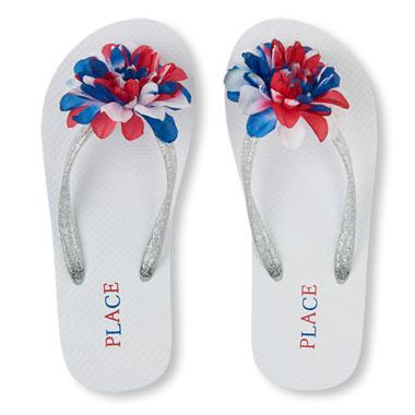 Girls Americana Flower Flip Flop