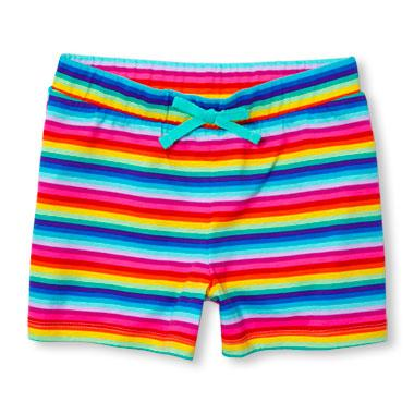 Girls Matchables Printed Knit Shortie Shorts