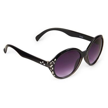 Girls Faceted Round Sunglasses