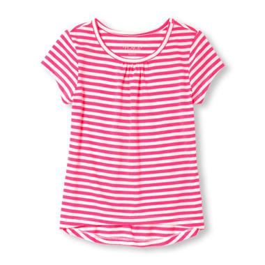 Girls Matchables Short Sleeve Striped Top