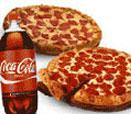 2 Large 1 Topping Pizza and a 2-Liter of Coca-Cola®