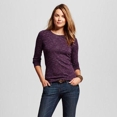 Women Merona Heather Ultimate LS Crew Tee