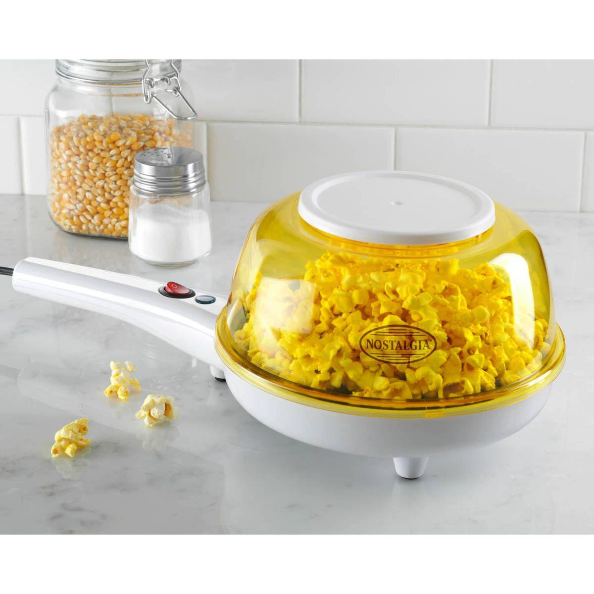 White Nostalgia Electrics Shake N Pop Popcorn Popper