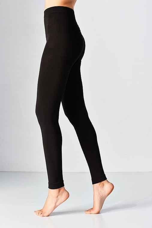 Pull On Styling Faux Fur Lined Footless Tight