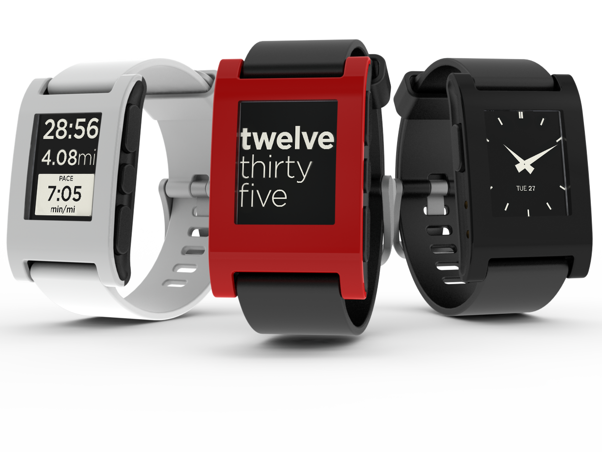 Refurbished Pebble Smartwatch For iPhone And Android