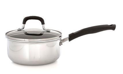 Nonstick Interior Stainless Steel Sauce Pan