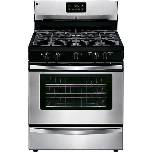 Digital Superior Temperature Control Stainless Steel Kenmore Gas Range Oven