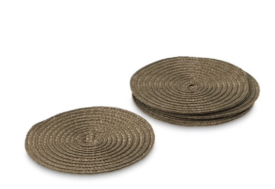 Vintage Round Woven Coasters