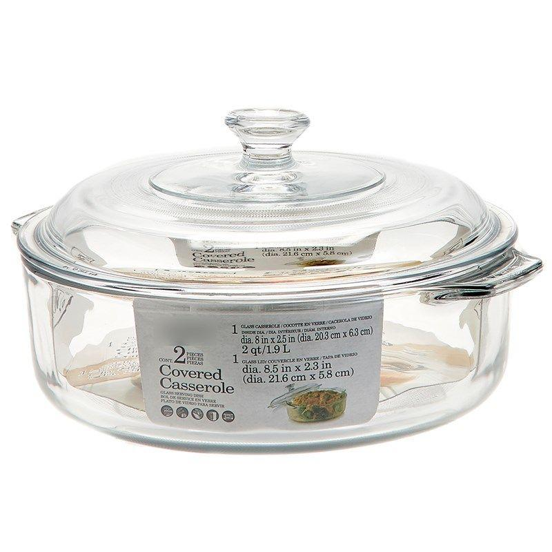 Durable Glass Covered Casserole Dish