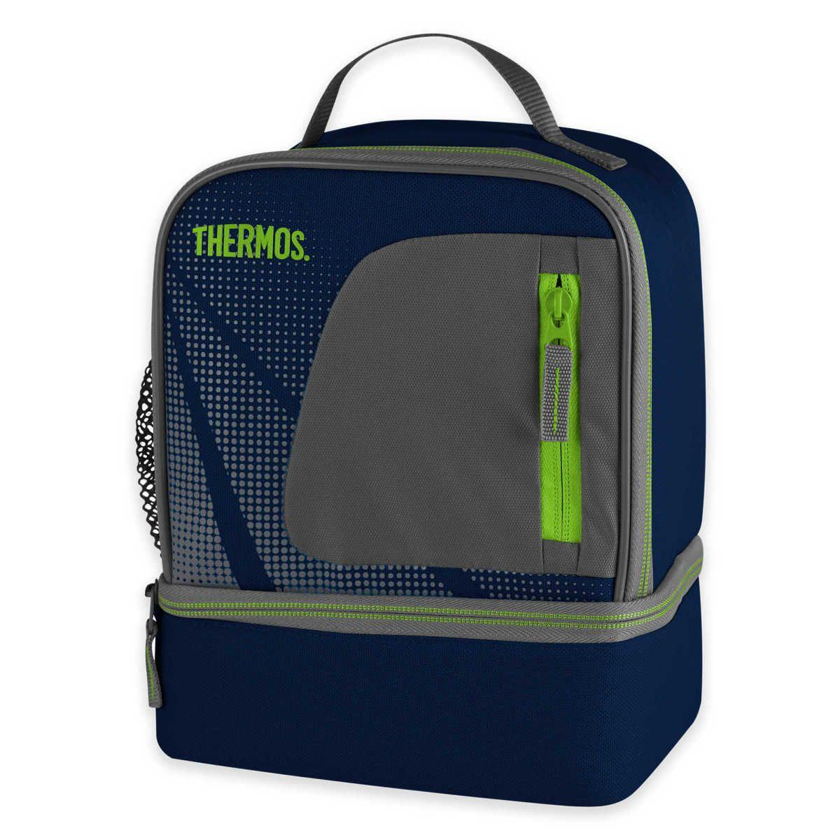 Thermos Insulated Radiance Dual Lunch Kit In Navy