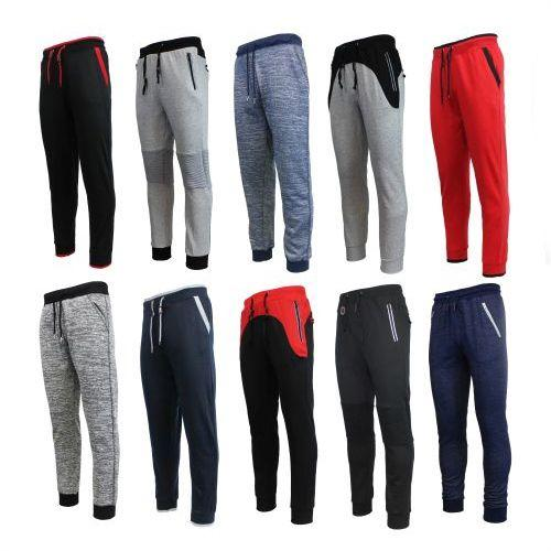 Elastic Waistband Slim-Fit Knit Joggers