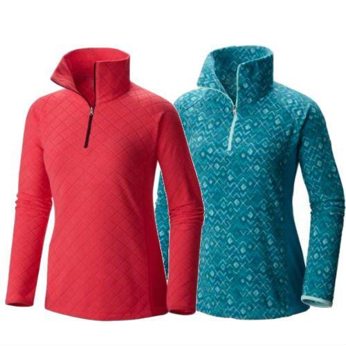 Women Glacial Warm Fleece III Print Half Zip