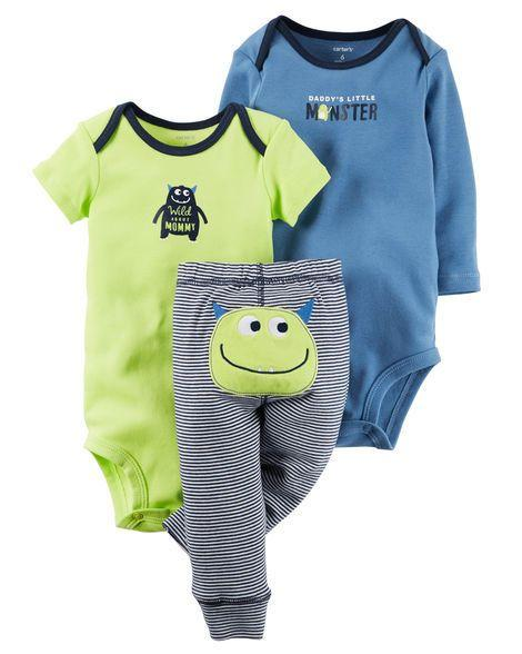 3 Piece Little Character Body Suit Set