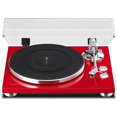 Stylish Chassis Analog Turntable Red Finish