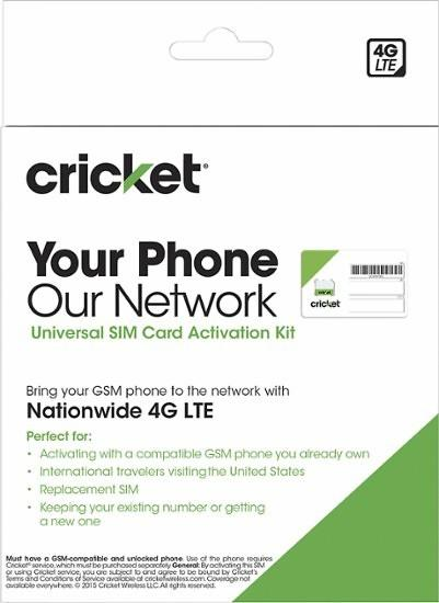 Cricket Wireless Bring Your Own Phone Sim Kit