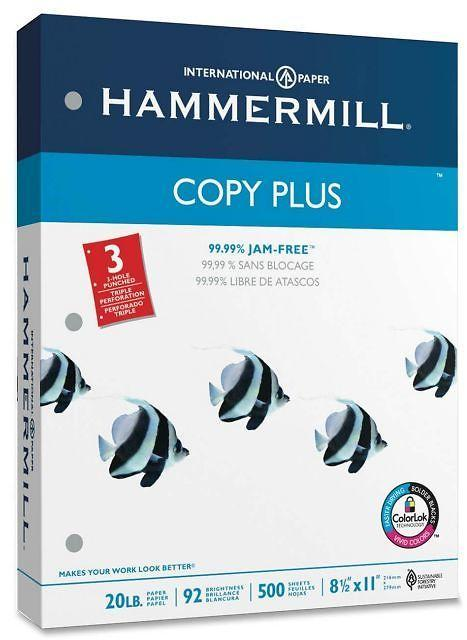 High Quality Hammermill Ream Paper