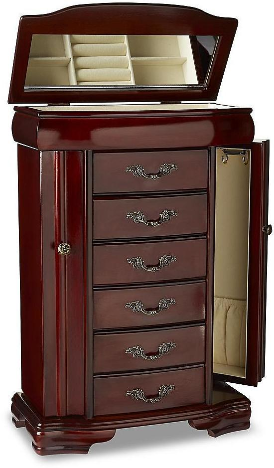 Sophisticated Touch Upright Wooden Jewelry Chest