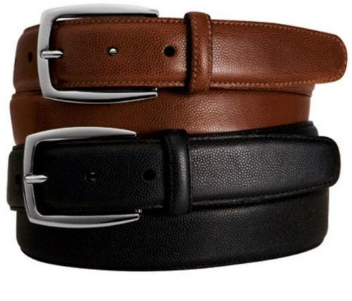Leather Durable Pebble Grain Men Belt