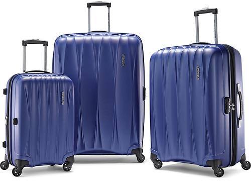 Blue American Tourister Arona Premium Hardside Spinner 3Pcs Luggage Set