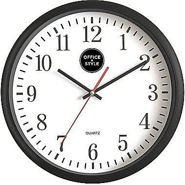 Office Plus Style 13 Inch Silent Quartz Color Wall Clock