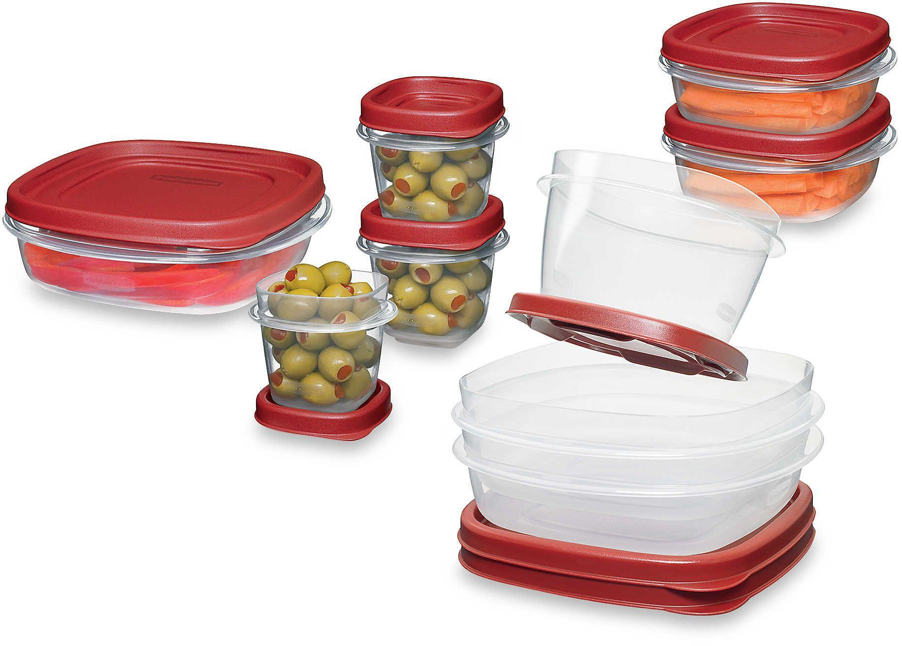 Clear Rubbermaid 18-Piece Food Container Set