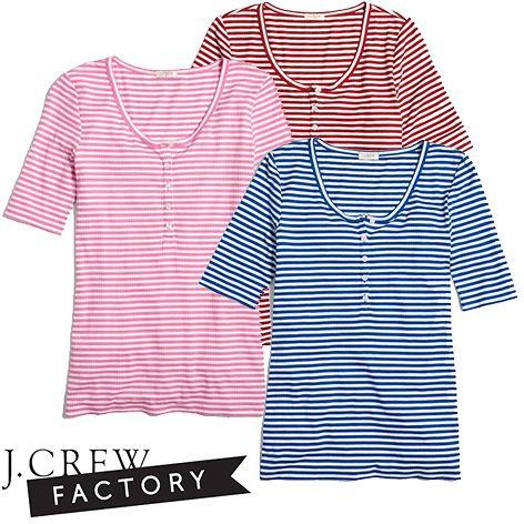 Slim Fit Striped Henley T-shirt