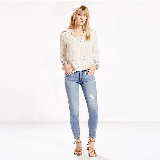 Cotton Imported Designer Levi's Twisted Seam Skinny Jeans