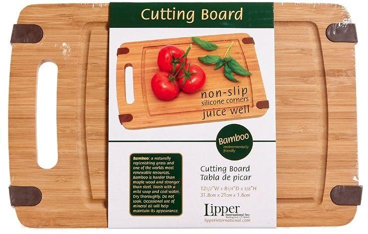 Bamboo Cutting Board With Silicone Corners
