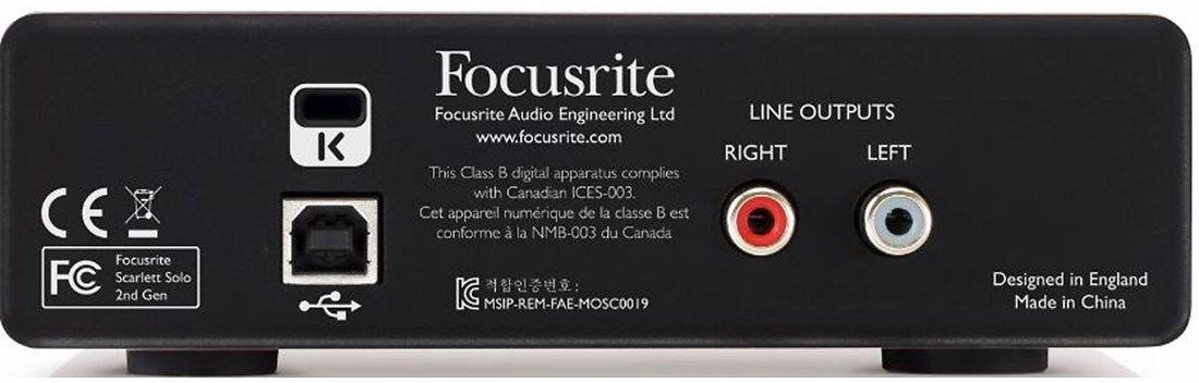 Focusrite Scarlett Solo 2nd Gen USB 2.0 Audio Interface