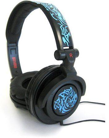 Lightweight Unique Digital Maxell AMPlified Tribal Glow Headphone