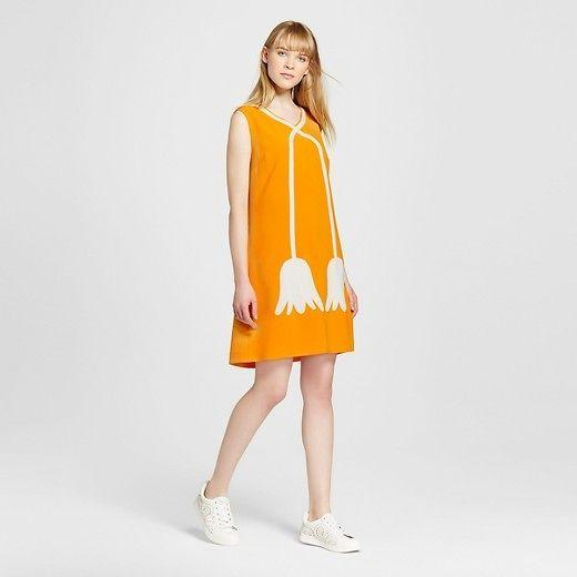 Women Marigold Mod Shift Dress